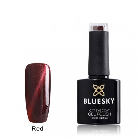 Esmalte permanente BLUESKY cat eye coat red