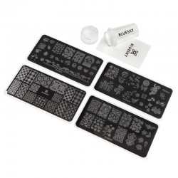 Kit Sello y 4 Placas Stamping