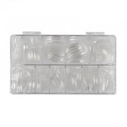 Tips transparentes caja 100 unid.