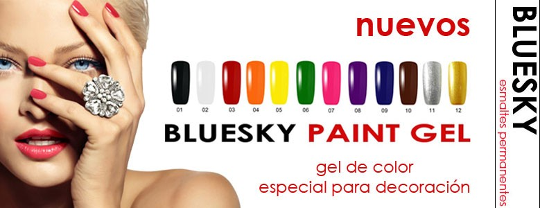 Paint Gel, BLUESKY - Gel de color especial para decoración de uñas